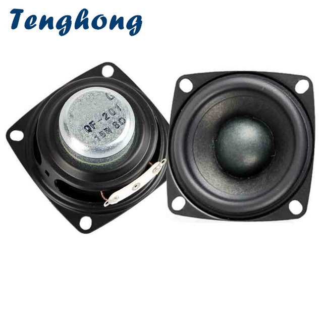Tenghong 2pcs 2 Inch Audio Speakers 4/8 Ohm 20W Treble Mediant Bass Full Range Speakers Stereo Loudspeaker For Home Theater DIY