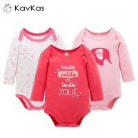 Kavkas Baby Girl Boy Rompers Long Sleeve Jumpsuits Winter Warm Newborn Thick Cotton Cute Clothes Bebe