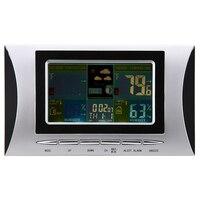 Беспроводной Метеостанция цифровая ЖК-дисплей красочные Дисплей электронный Крытый Открытый термометр гигрометр Календари будильник