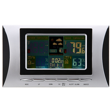 Wholesale prices Wireless Weather Station Digital LCD Colorful Display Electronic Indoor Outdoor Thermometer Hygrometer Calendar Alarm Clock
