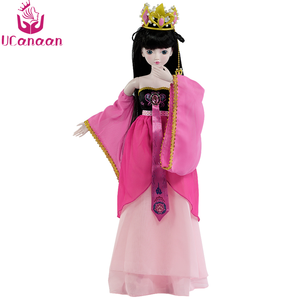 Ucanaan 1/3 BJD SD Doll 24 Ball Jointed Dolls With Outfits Shoes Dress Wig Makeup Girls Toys DIY Dressup Princess Doll ucanaan 1 3 bjd dolls beauty sd doll 19 ball jointed with full outfits makeup dressup dolls children toys for girls