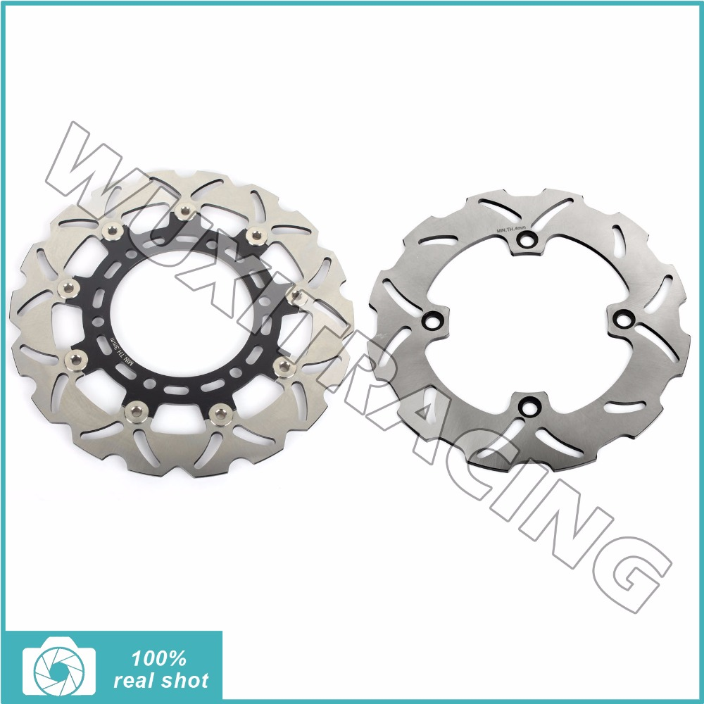 for SUZUKI DR 650 DR650 SE 1996-2014 97 98 99 00 01 02 03 04 05 06 07 08 09 10 11 12 13 Full Set Front Rear Brake Discs Rotors rear brake disc rotor for suzuki dr 650 se 96 12 k1 k2 k3 k4 k5 k6 k7 k8 k9 xf 650 freewind 97 98 99 00 01 02 03