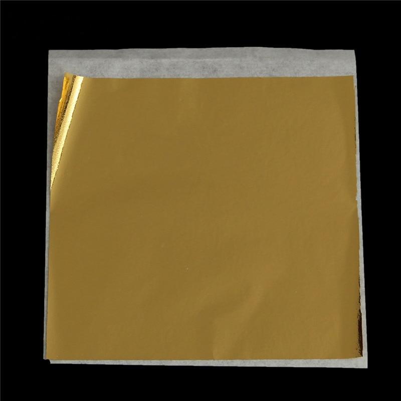 100pcs pack sheets practical gold foil decoration gold for Silver foil paper craft