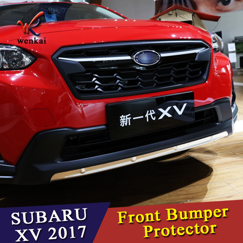 US $65 88  WK Car For SUBARU XV GT3 GT7 2017 2018 304 Stainless Steel Front  Bumper Skid Protector Guard Plate Cover Trims 1pcs Car Styling!-in Bumpers