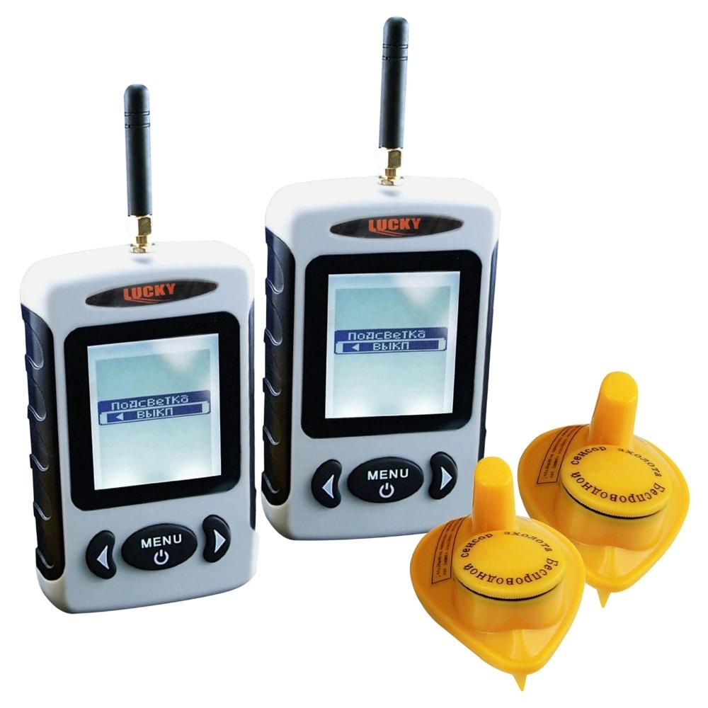 2 pieces x FFW-718 LUCKY Russian Menu Digital 45 meters Wireless Sonar Sensor River Lake Live Update Contour FishFinder lot of 2 эхолот скат два луча lucky ff 718 duo