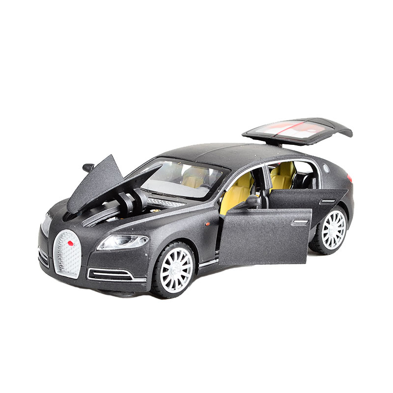 Toy Vehicle Bugatti Veyron Sports Car with light and sound Pullback 6 Doors Openable