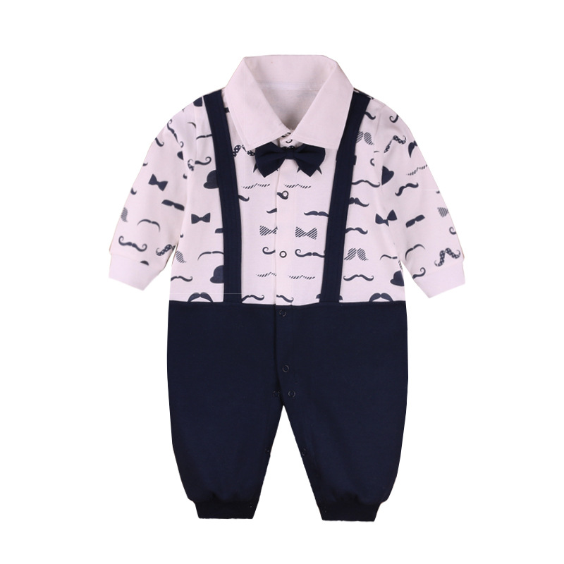 Newborn Baby Boy girl Rompers Autumn Kids Gentleman Clothes Baby Boy Long Sleeve Jumpsuits  Brand Clothing for Baby Boys newborn winter autumn baby rompers baby clothing for girls boys cotton baby romper long sleeve baby girl clothing jumpsuits
