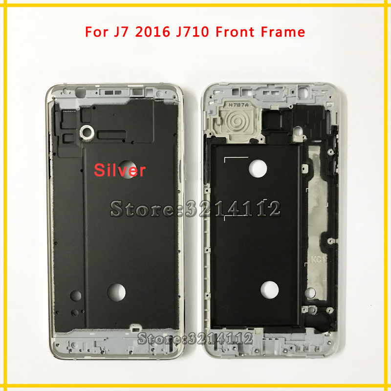 10pcs/lot New Front Frame Middle Plate Frame Bezel Housing Cover For Samsung Galaxy J7 2016 J710 Free shipping