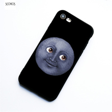 cheap for discount 938c9 a18f3 SCOZOS moon emoji ny Silicone phone case soft Cover For Iphone X 5 ...