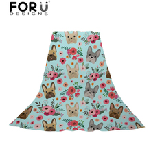FORUDESIGNS Slik Scarf Women French Bulldog Flower Print Light and Thin Scarves Ladies Fresh Style Beach Towel for Female Teens stylish fresh style flower and leaf pattern chiffon scarf for women