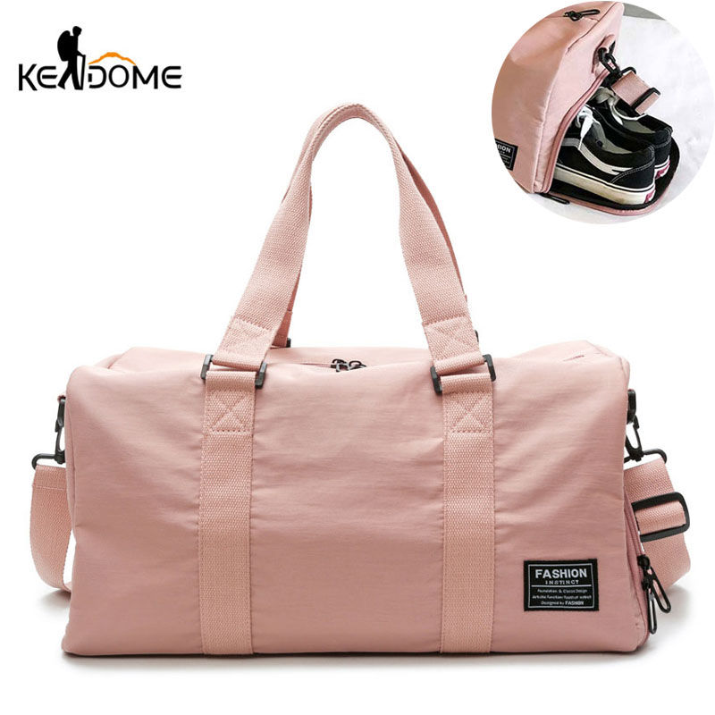 47664019ee6f Sports Gym Bag Women Fitness Yoga Bags Male Nylon Shoulder Handbags Summer  Swimming with Shoes Storage PINK 2019 XA757WD-in Gym Bags from Sports ...
