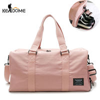 Sports Gym Bag Women Fitness Yoga Bags Male Nylon Shoulder Handbags Summer Swimming with Shoes Storage PINK 2019 XA757WD
