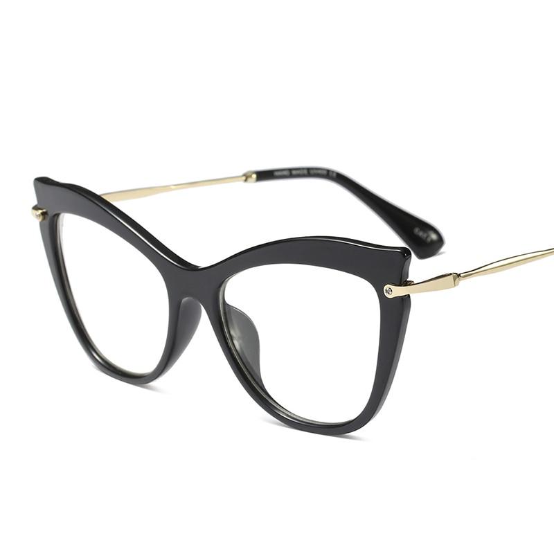 YDO Mode Cat Eye Glasses Wanita Transparan Batal Lens Kacamata Merek - Aksesori pakaian - Foto 4
