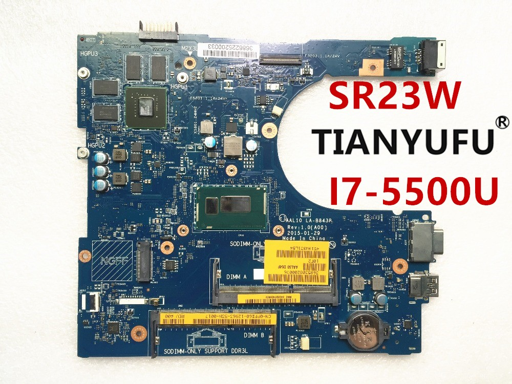 FOR Dell INSPIRON 5458 5558 5758 SERIES Laptop Motherboard i7 5500U AAL10 LA B843P REV 1
