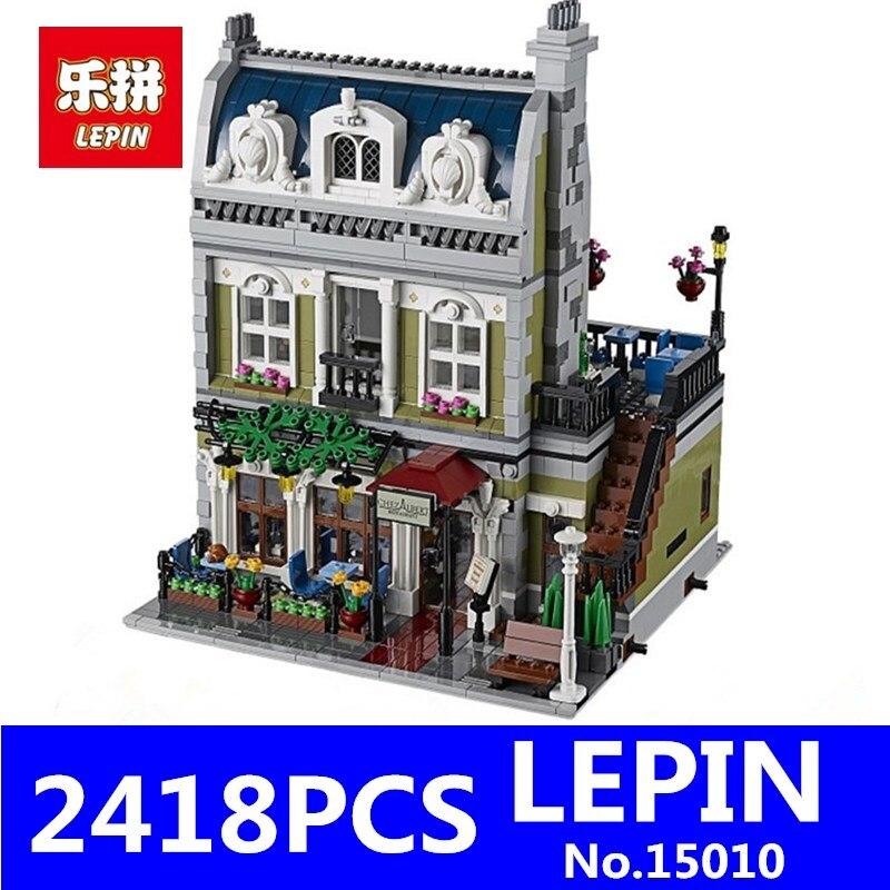 LEPIN 15010 15007 15011 15015 15017 15018 Creator Parisian Restaurant City Street Building Blocks Bricks Toy for Children Gift  trendyangel 15007