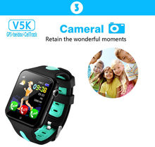 V5K GPS + LBS Smart Watch Children Security Anti Lost Tracker Life Waterproof 1.54'' Screen Camera Kid Safe SOS SmartWatch(China)