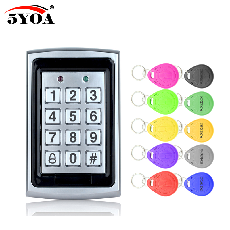 5YOA Waterproof Metal Rfid Access Control Keypad With 1000 Users+ 10 Key Fobs For RFID Door Access Control System5YOA Waterproof Metal Rfid Access Control Keypad With 1000 Users+ 10 Key Fobs For RFID Door Access Control System