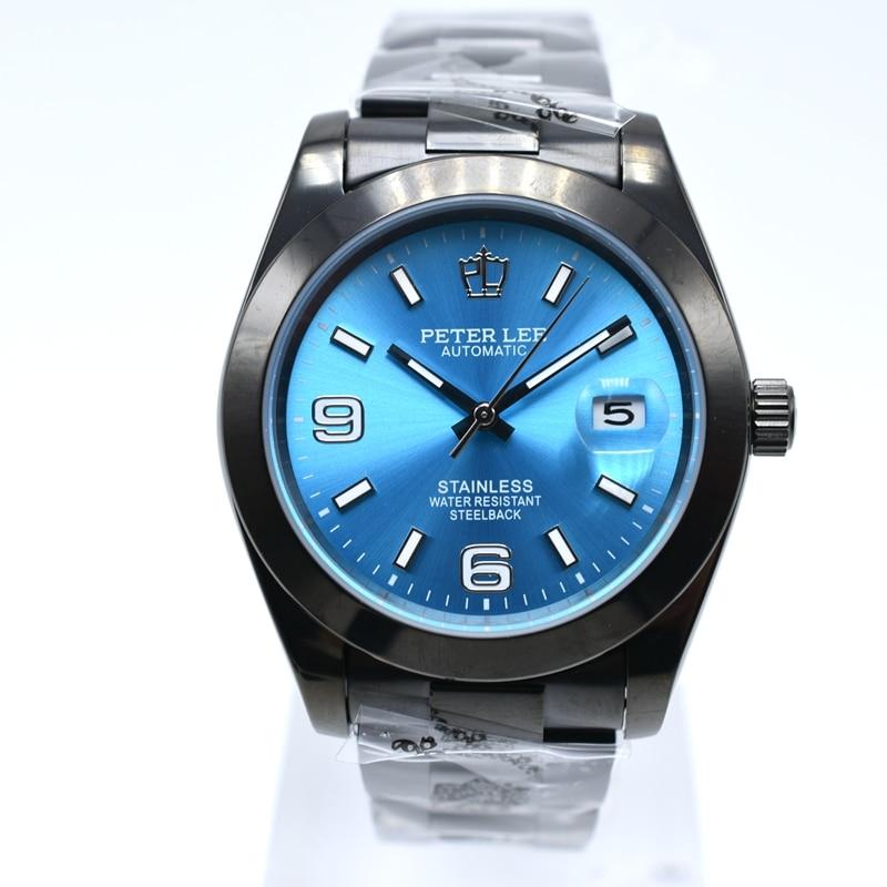 HTB1MYiSahSYBuNjSsphq6zGvVXas Silver Watch | Fashion PETER LEE Nautilus | Brand Luxury Full Steel Bracelet Waterproof Automatic Mechanical Business Clocks Classic Dial 38mm Mens Watch
