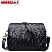 ZOOLER Frauen Echten Schulter Messenger Bag Kleine Welle Clutch Bag Handtasche Berühmte Marke Designer Bolsa Feminina Mochila Schwarz