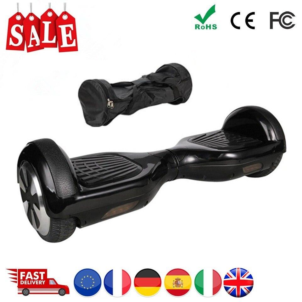 Noir Hoverboard 6.5 Pouces trottinette auto-équilibrée Avec Sac Par-Dessus Bord trottinette électrique skateboard électrique Aspirateur Électrique Conseil