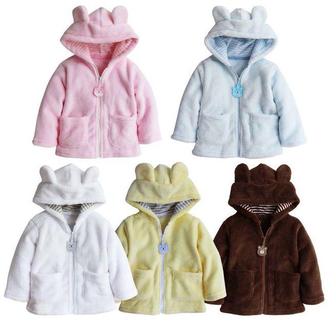 Hoodies Do Bebê do estilo novo 2016 casaco de outono e inverno roupas bebê recém-nascido do bebê da menina do menino roupas grosso tops casacos crianças