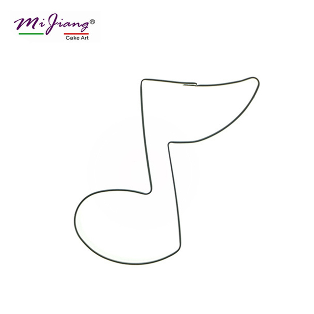 Mijiang Stainless Steel Music Note Symbols Cookie Cutter Slicers