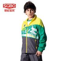 Super Deal 3 Piece Fashion Boys Sport Suit 145 155cm Boy Clothing Set Green Blue Child