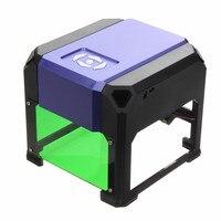 Desktop Laser Engraver Machine 1500mW USB DIY Logo Mark Printer Cutter CNC Laser Carving Machine 80x80mm
