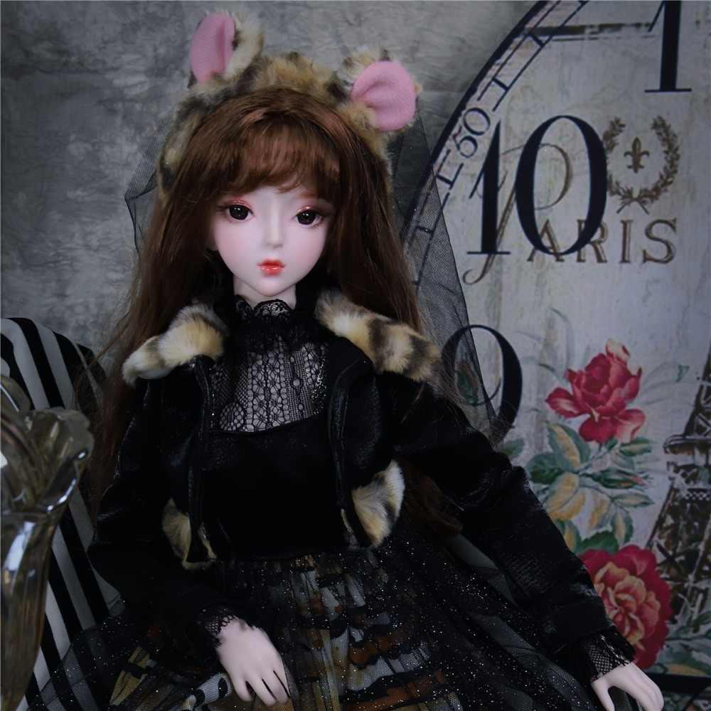 1/3 bjd кукла с гибкими суставами с волосами платье обувь головной убор, название янтарной SD Игрушки DC подарок для девочки, 62 см