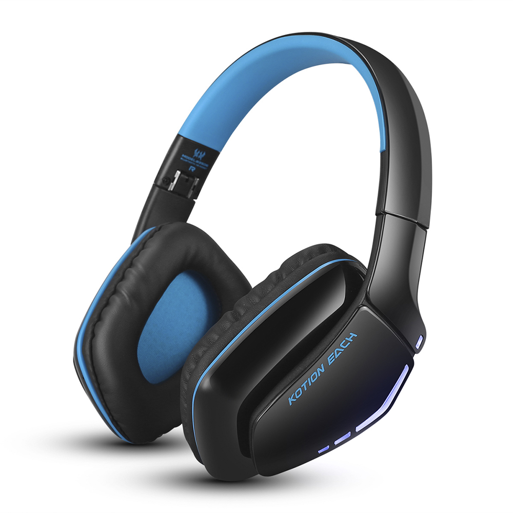 KOTION EACH Bluetooth Headphones Foldable Wireless Deep Bass Stereo PS4  Gaming Headsets with Mic Led Handsfree