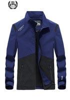 4XL 2019 Autumn Spring Brand Jacket Thin Mandarin Collar Coat Ultra Light Business Drop Shipping Jackets Coats Casual Military