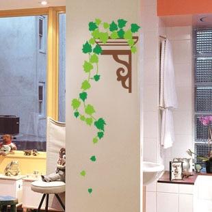 Adesivi murali bagno pilastro decorazione fiore fiori for Stickers per mattonelle bagno