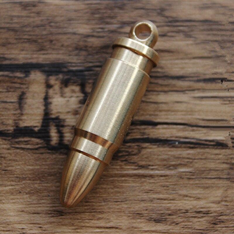 النحاس الطيور الجمجمة EDC مفتاح قلادة سكين الخرز EDC متعددة أدوات Paracord الخرز