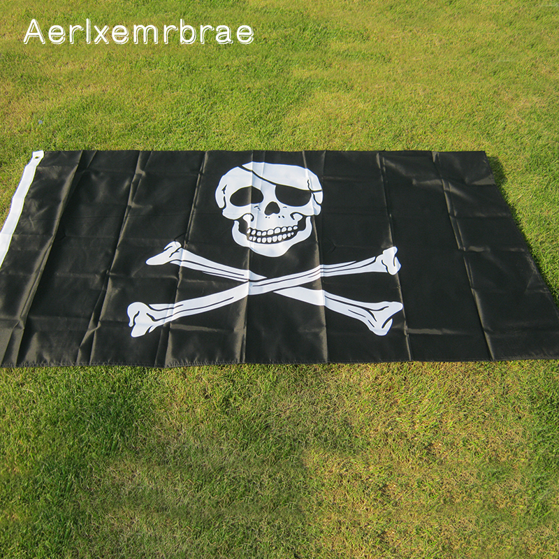 Aerlxemrbrae Flag Pirates Flag Jolly Roger Hanging Banner Pirates Flag For To Decorate The Party Venue And Festivals