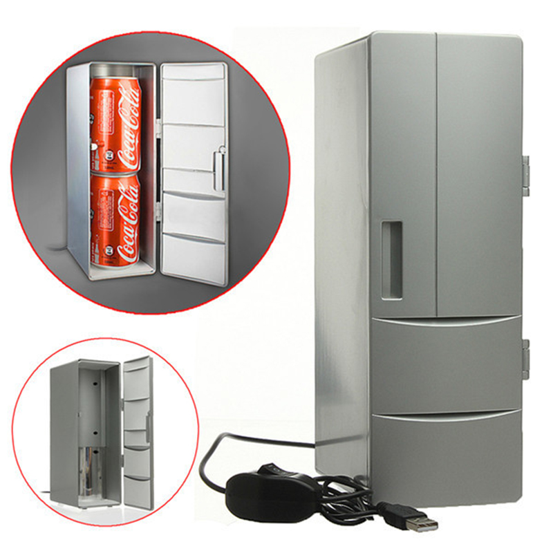 Prix pour 100% marque portable mini usb pc ordinateur portable réfrigérateur refroidisseur mini usb pc réfrigérateur warmer cooler canettes de boissons congélateur