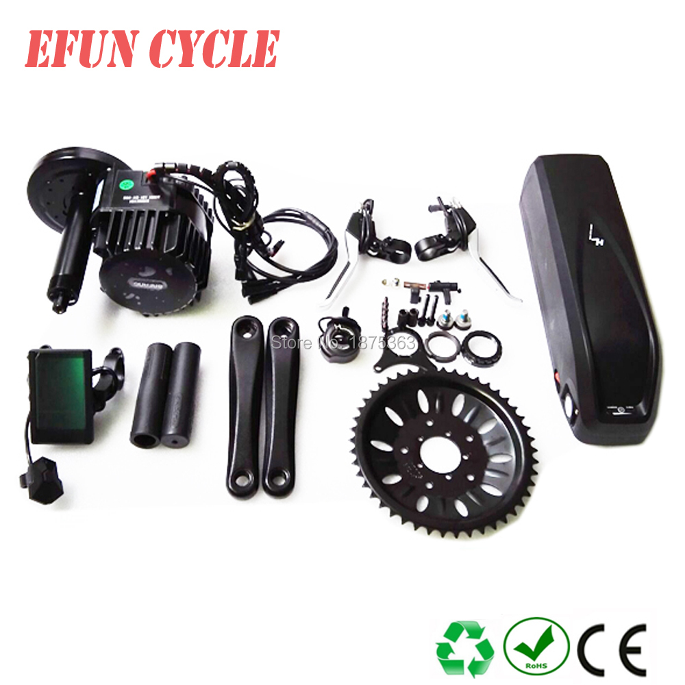 EU US free shippping BAFANG BBSHD 48V 1000W central motor kits with 48V 17Ah USB hailong down tube battery for fat tire bike