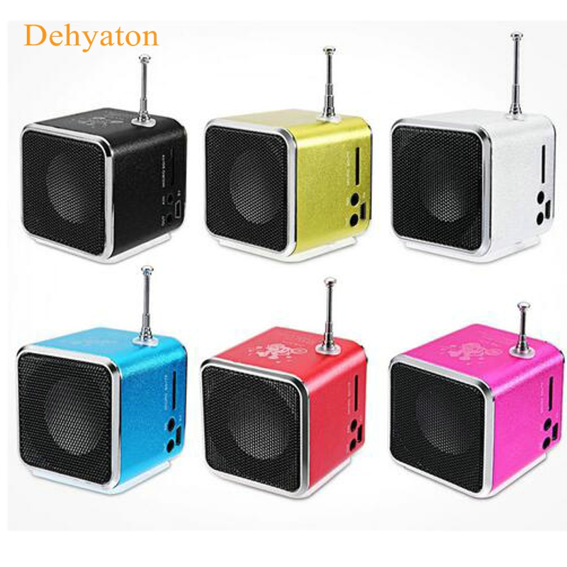2018 New Portable Mini Speaker Stereo Loudspeaker Music Playerportable radio with Digital and Micro SD / TF / USB / FM Radio