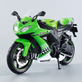 KWSK ZX10R Ninja ZX-10R Green 1:12 scale metal diecast models motor bike miniature race Toy For Gift Collection