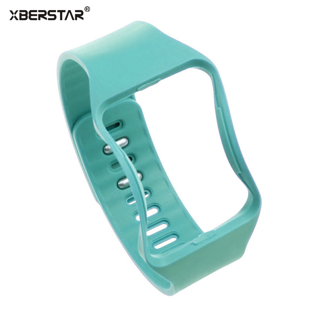 New TPE Replacement Bangle Strap Watchbands for SAMSUNG GALAXY GEAR S SM-R750 Watch WristBands Fit for 6.5- 9 wrist size