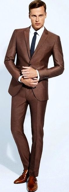 Popular Brown Suits Men-Buy Cheap Brown Suits Men lots from China ...