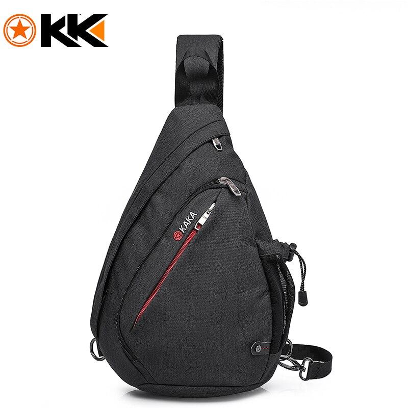 0b651a0fc25 KAKA Large Capacity Men Women Chest Bag For Female Nylon Sling Bag Casual Crossbody  Bags For 12.9inch Ipad Shoulder travel bag
