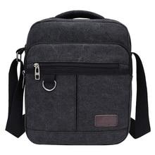 Купить с кэшбэком Solid Canvas Casual Men's Handbags Crossbody Zipper Design Men's Flap Single Shoulder Bags Multifunction Travel Bags