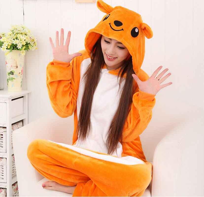Новые взрослый мужской пижамы комплект кенгуру Костюмы для косплея Для  мужчин Для женщин одежда для сна f1563b614dceb