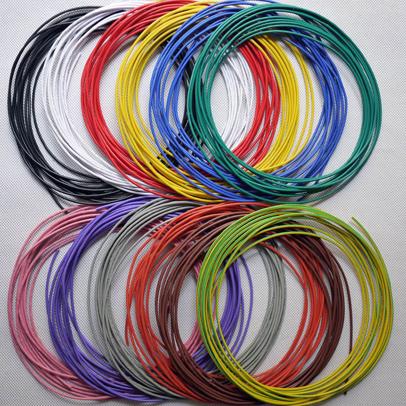 Tinned copper 24AWG electric wire , UL1007 PVC insulated wire, Electric cable, Electrical and electronic equipment internal line 30meters white 28awg ul1007 cable electronic wire to internal wiring electrical wires diy cables 100ft 28 awg
