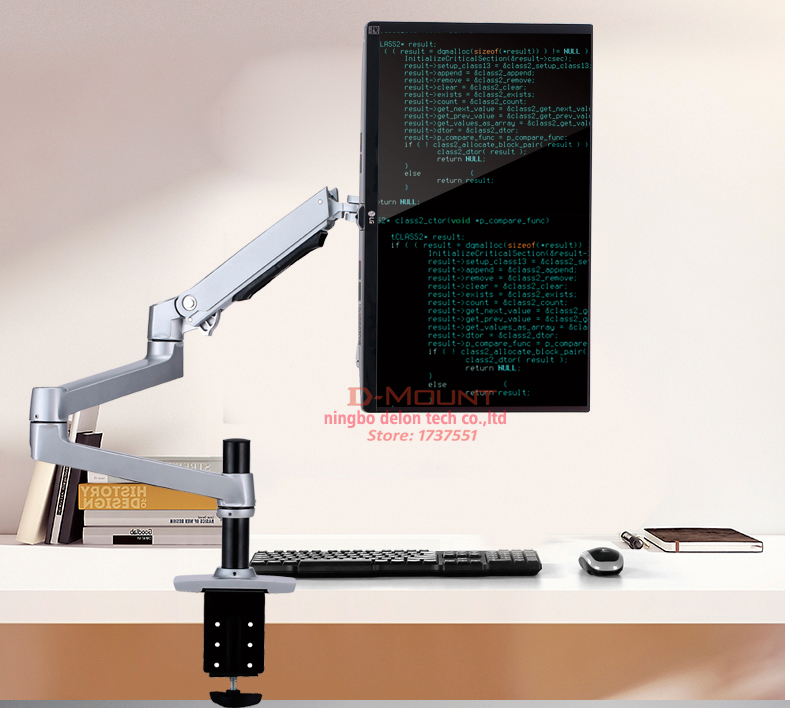 """DL-8012 ЖК-экран Настольный полный движения 17-3"""" монитор Стенд механический пружинный кронштейн алюминиевый монитор Поддержка загрузки 10 кг"""