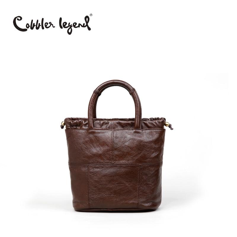 Cobbler Legend Original 2016 Womens Genuine Leather Handbags With Shoulder Belt Retro Ca ...