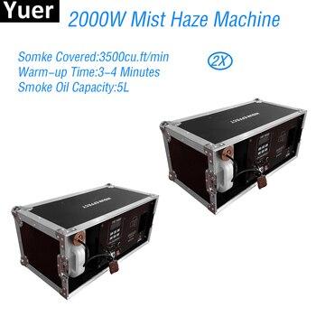 Disko DJ Yalanlı zemin smok 2000W Pus Düşük Sis Makinesi DMX Hazer Makinesi Uzaktan Kumandalı Özel Efekt Ekipmanları sahne