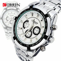 Curren Men S Full Stainless Steel Military Casual Sports Watches Waterproof Brand Hot Sale Relogio Masculino