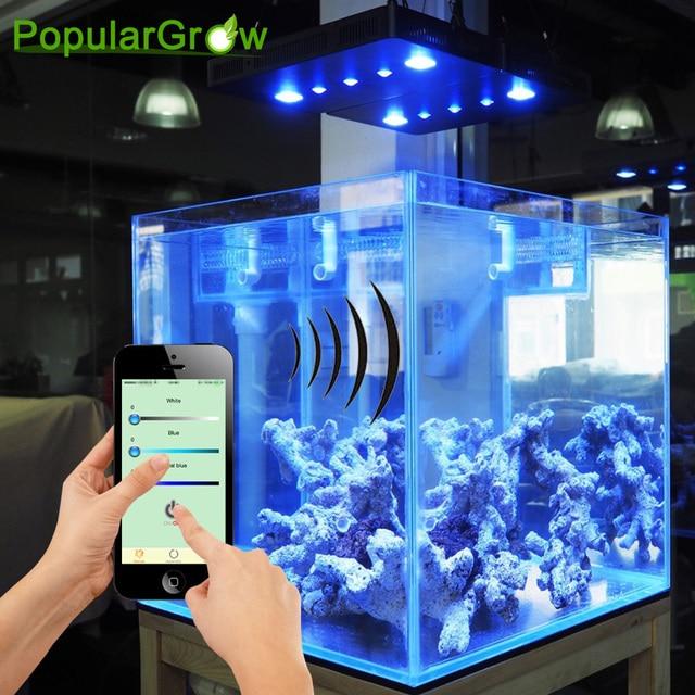 Wifi Cob Lens 169w Marine Led Aquarium Light For Coral