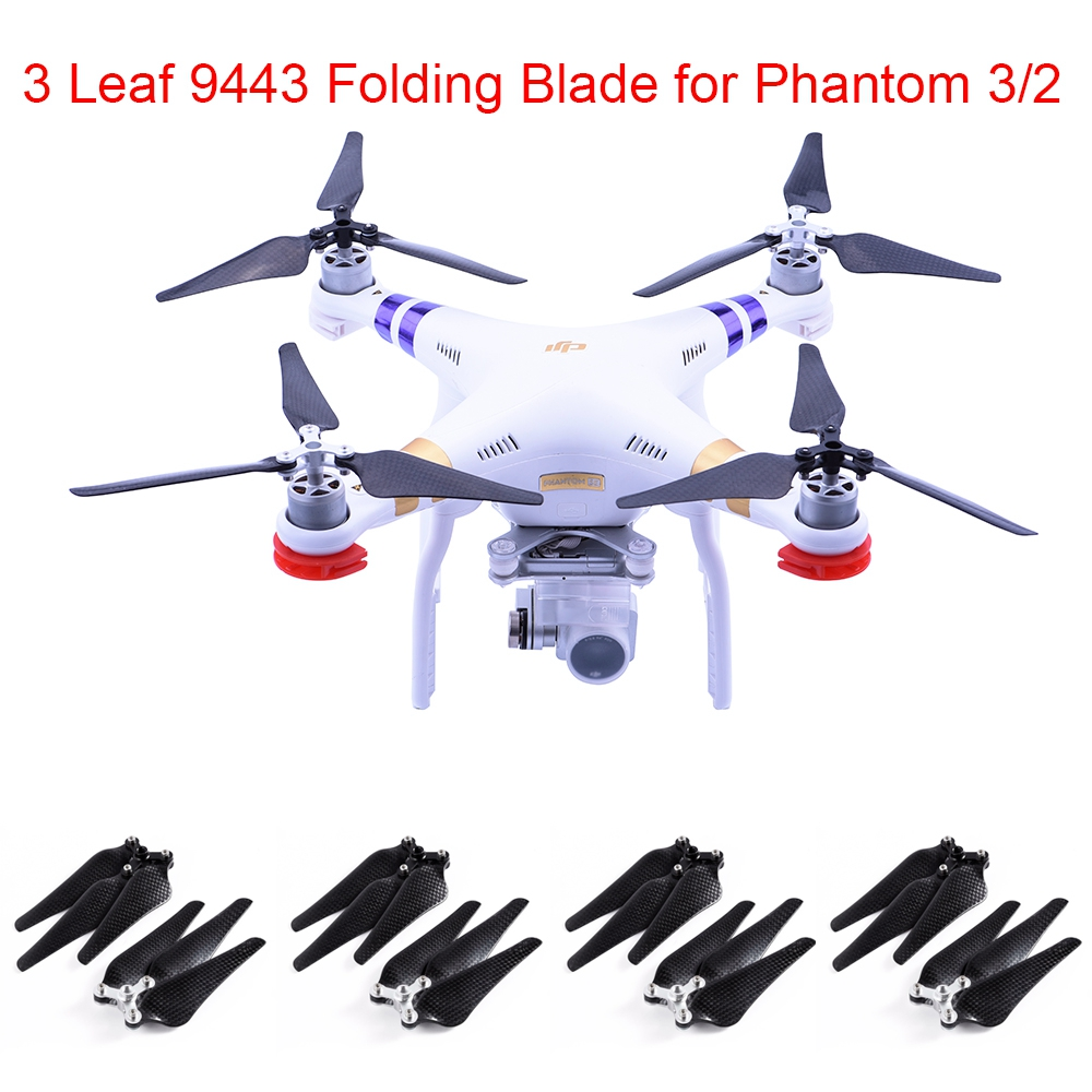 8PCS 9443 Propeller 3 Blade Self locking Paddle Clips Carbon Fiber foldable Folding Blade Props Adapter RC Drone Quadrocopter new solid au750 rose gold ring women cute link party ring can adjustable ring